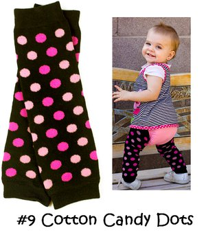 Cotton Candy Dot Bow Legwarmers-