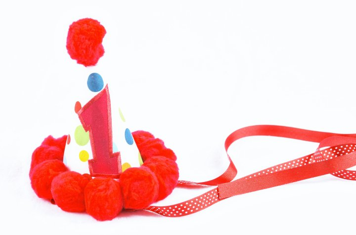 Red Polka Dot Party Hat-