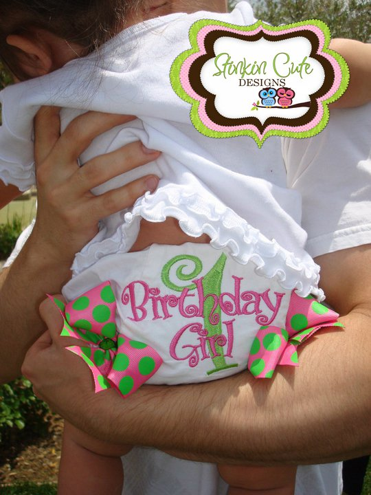 Birthday Personalized Diaper Covers-personalized bloomers