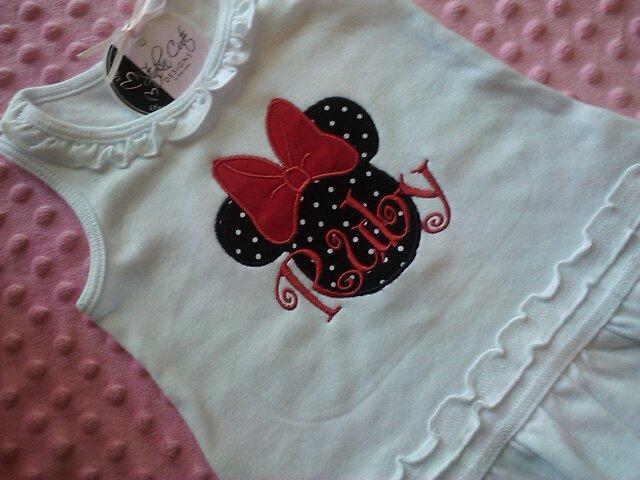 Minnie Mouse Personalized Dress-minnie, dress, personalized