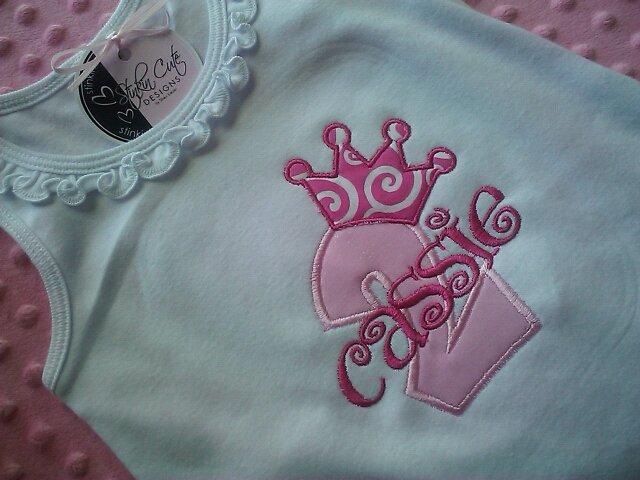 Princess Birthday Applique Dress-Birthday, applique, personalized, dress