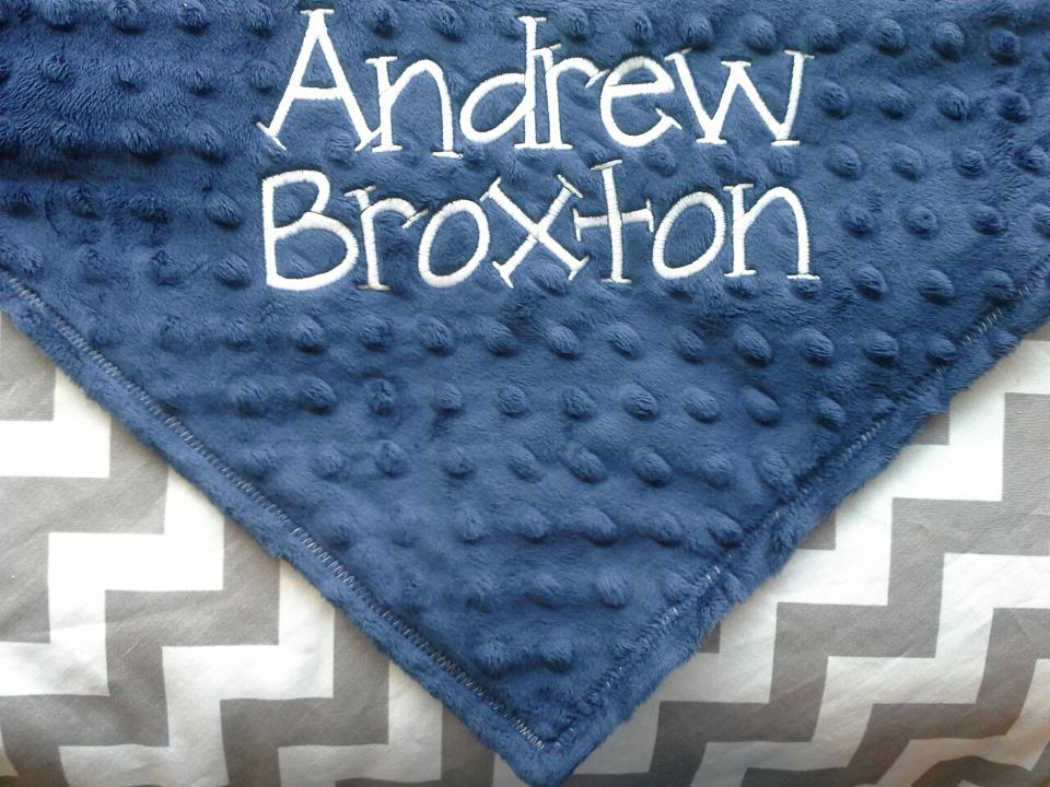 BOY Chevron Baby Blanket-