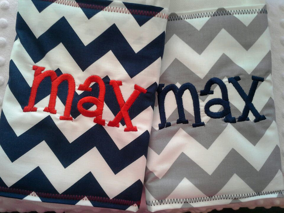 BOY Chevron Burp Cloths-