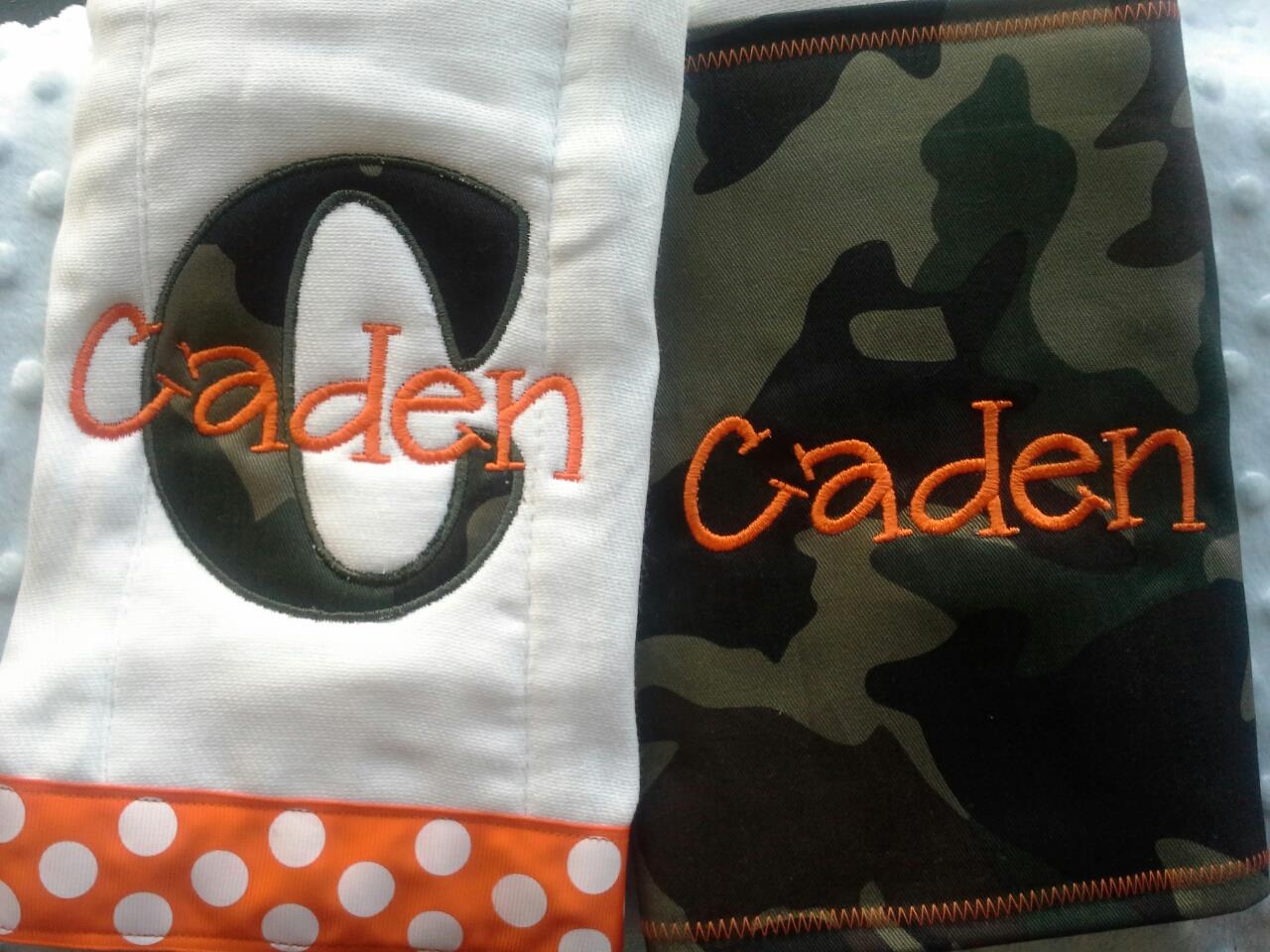 Camo Burp Cloth Set-