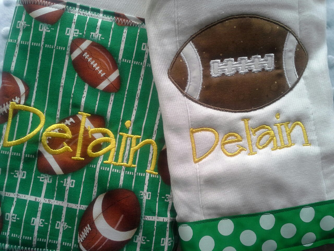 Football Burp Cloth Set-
