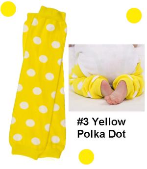 Yellow Bow Legwarmers-