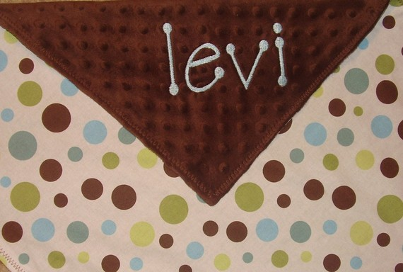 BOY Personalized Lovey-blanket, lovey, baby blanket