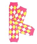 Pink with White Hearts Bow Legwarmers-