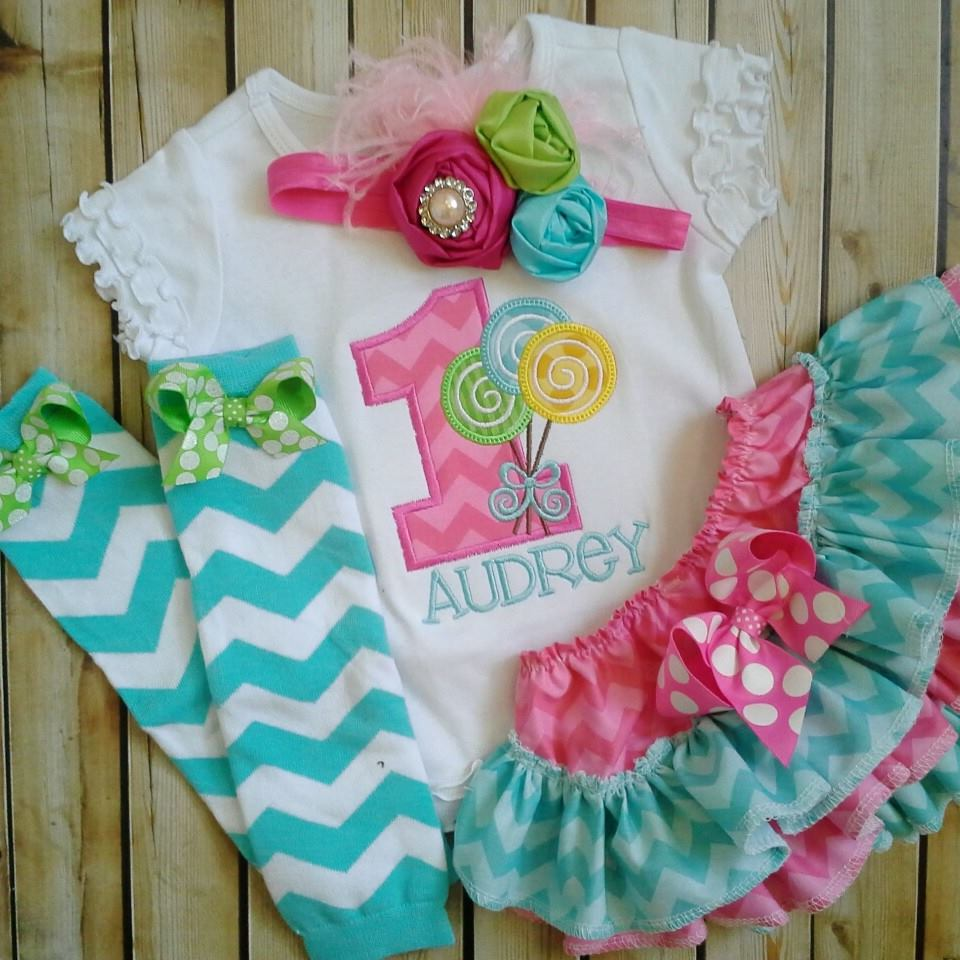 Sweet Shoppe Ruffled Birthday Set-