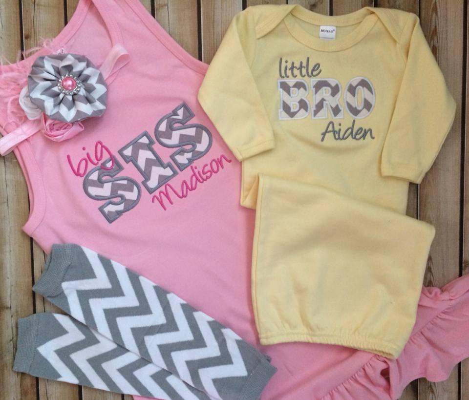 Big Sis Dress & Lil Bro Gown Set-