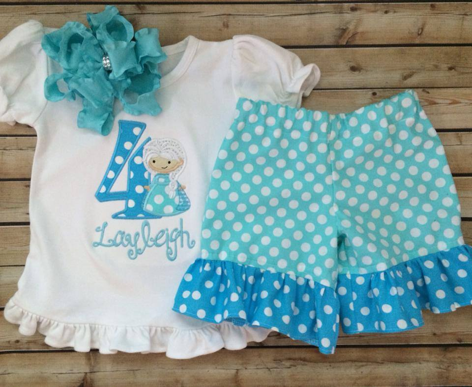 Elsa Themed Shorties Set-