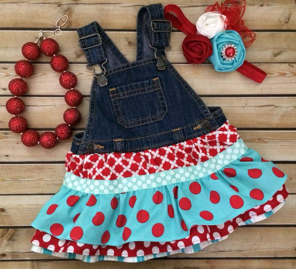 NEW Ruffled Overalls Dress-