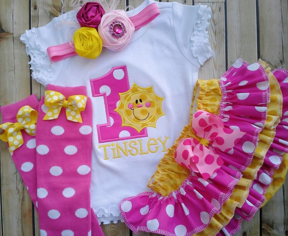 You are my Sunshine Ruffled Set-