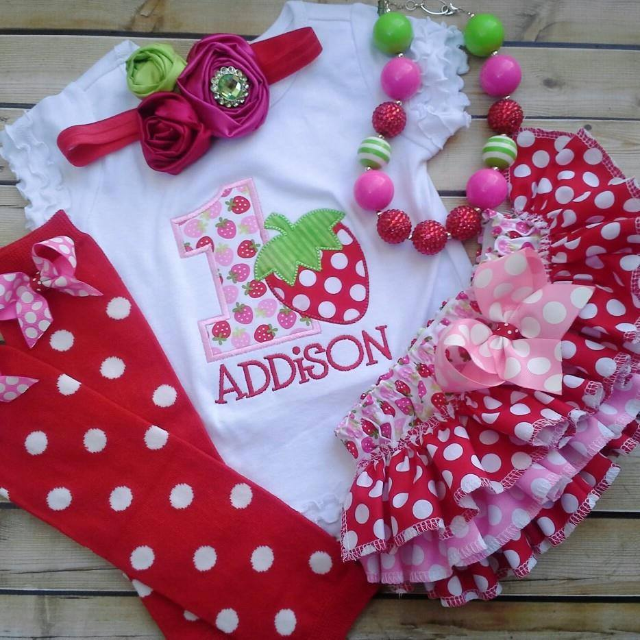 Strawberry Birthday Set