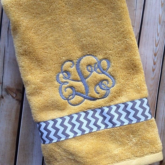 Monogrammed Hand Towels-