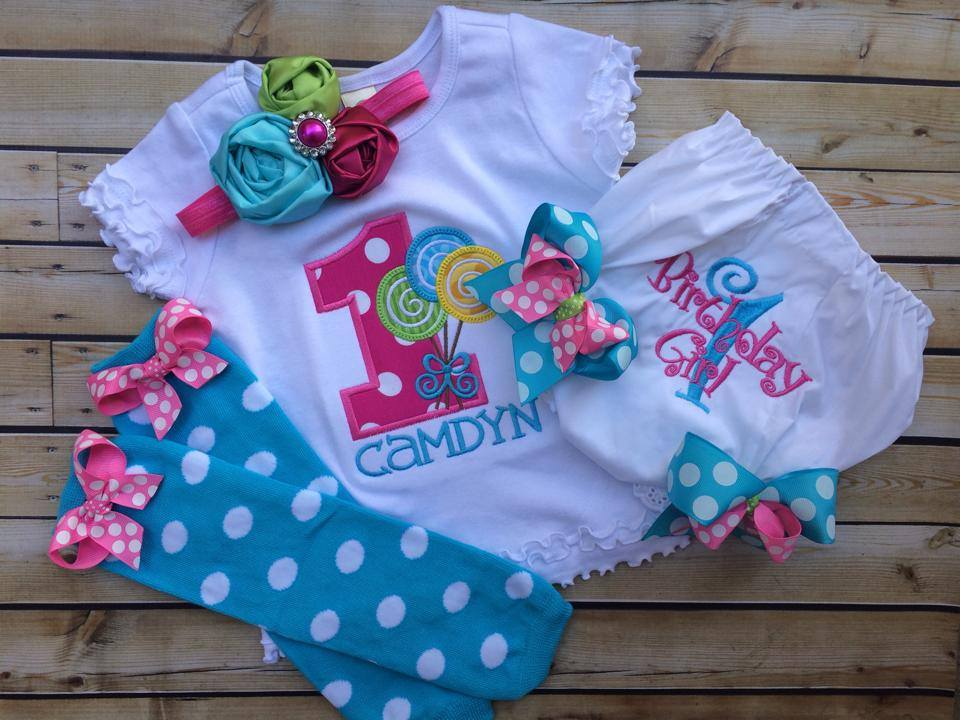 Sweet Shoppe Tee and Birthday Bloomer Set