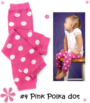 Hot Pink Polka Dot Leg Warmers-leg warmers