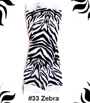 Zebra Bow Legwarmers-