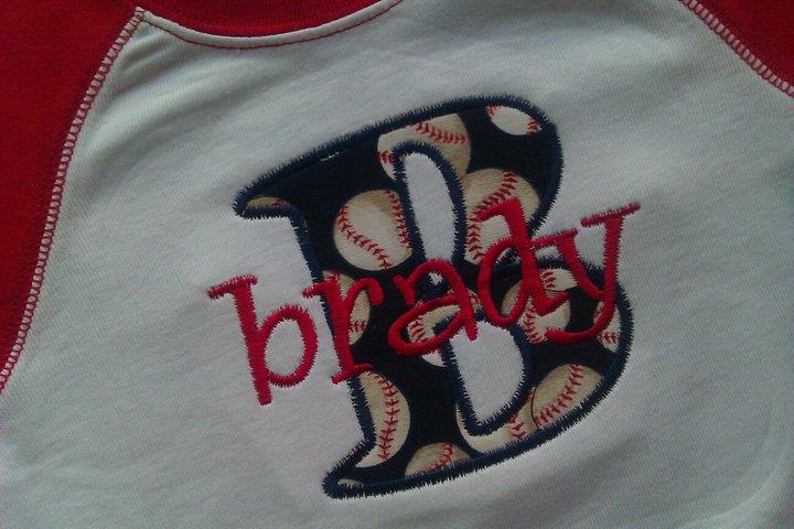 Baseball Style Name Tee-Baseball