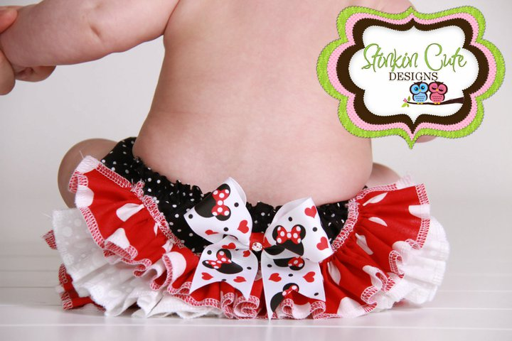 Minnie Ruffled Bloomer-ruffled bloomer