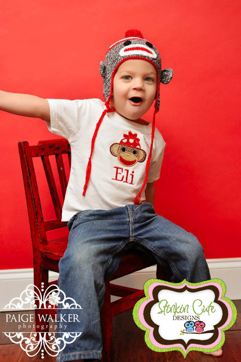 Sock Monkey Hat and Tee-Sock Monkey