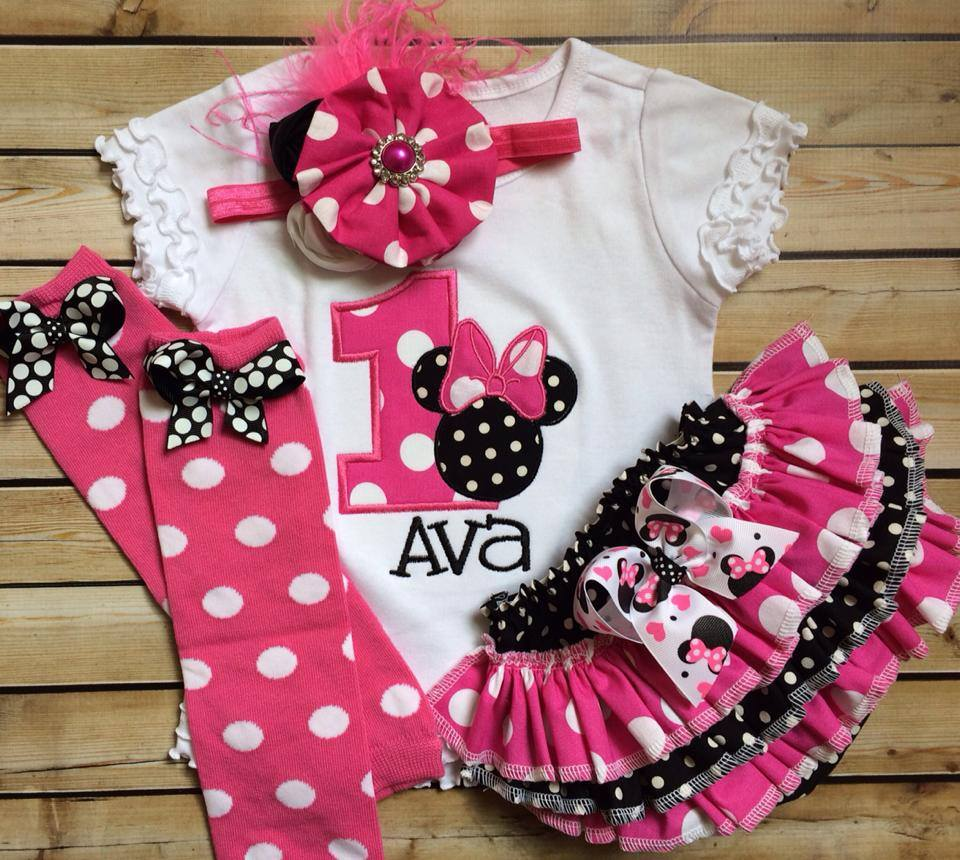 Minnie Birthday Ruffled Set-