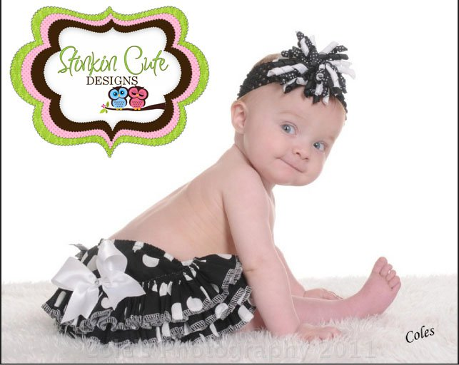 Black and White Ruffled Bloomers-Ruffled Bloomers