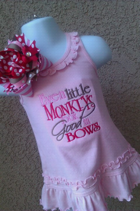 Monkey Bow Dress-