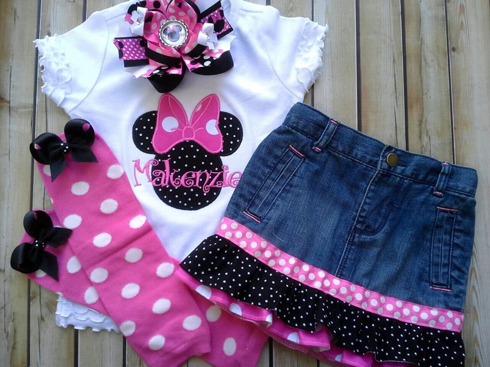 MInnie Denim Skirt Set-