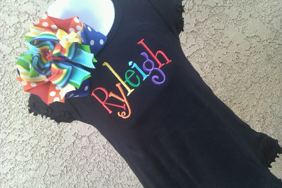Rainbow Name Dress-