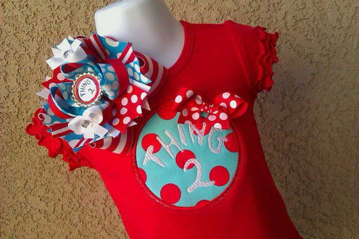 Thing 1 or Thing 2 Dress-