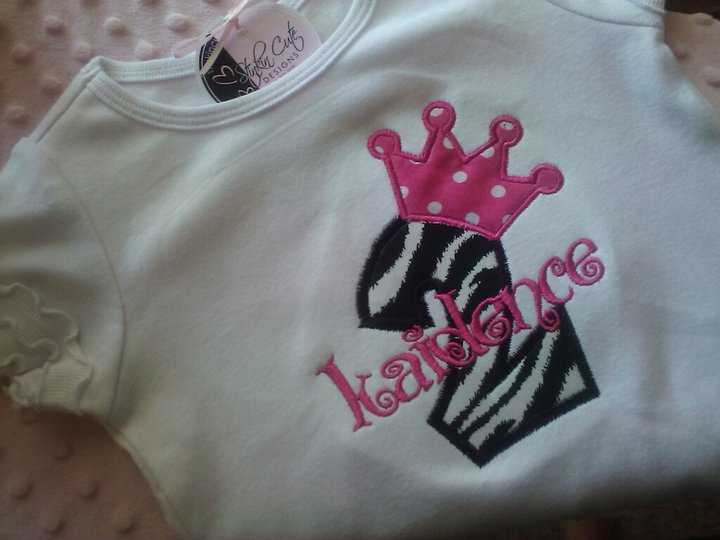 Princess Bday Applique Tee-birthday tee