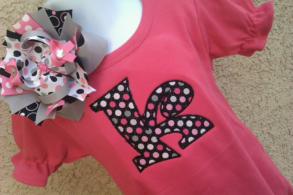 Hot Pink and Grey Romper-