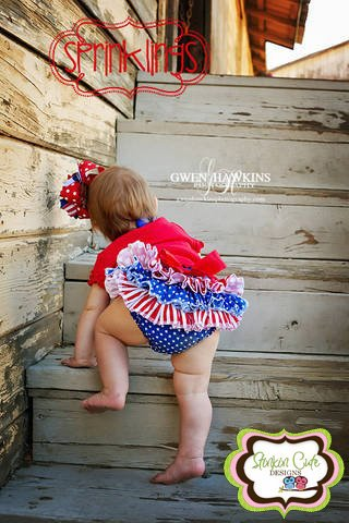 4th of July Ruffled Bloomer-