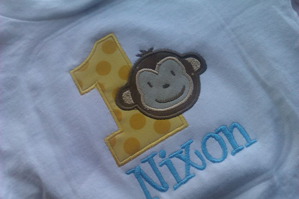 Birthday Monkey Tee for BOYS-