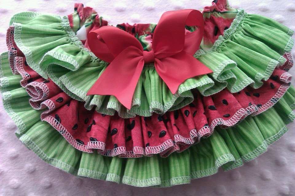 Watermelon Ruffled Bloomers-