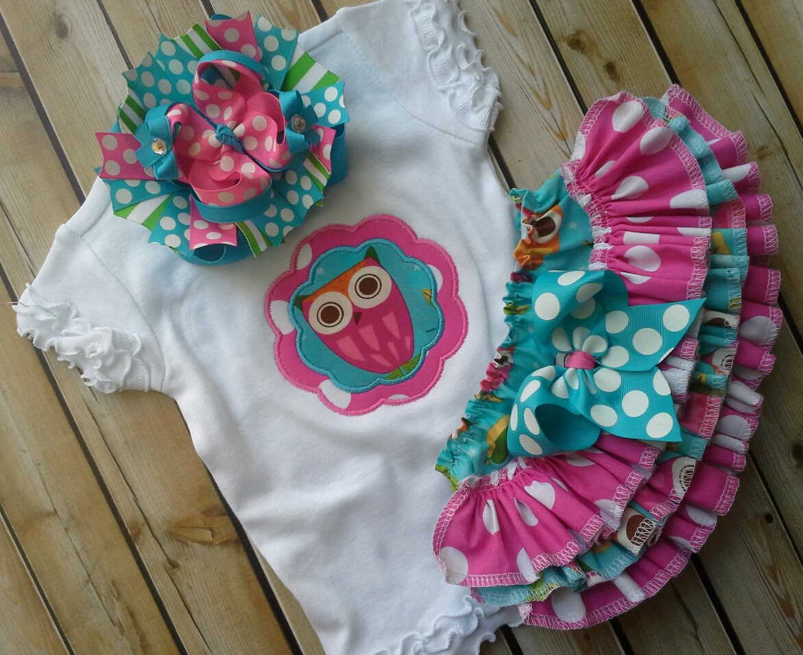 Owl Ruffled Set-Owl Bloomers