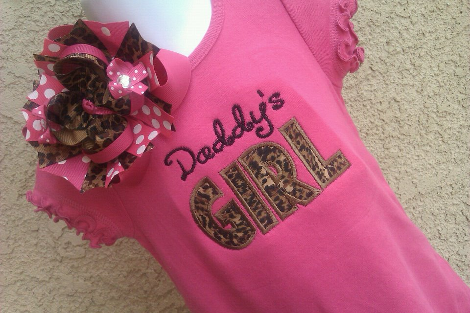 Leopard Daddys Girl Dress-