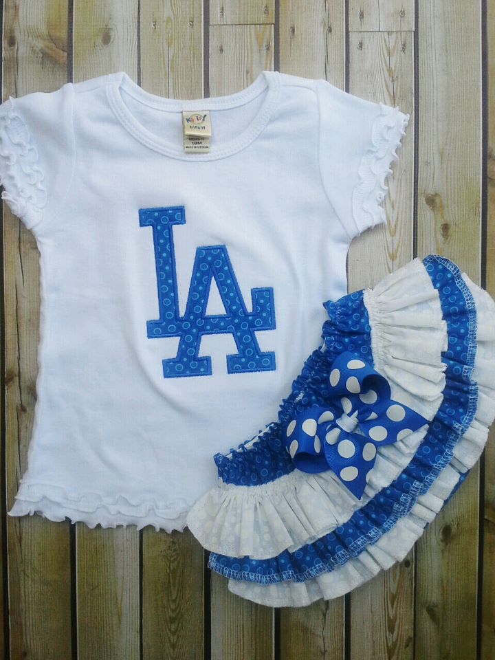Dodgers Themed Ruffled Set-
