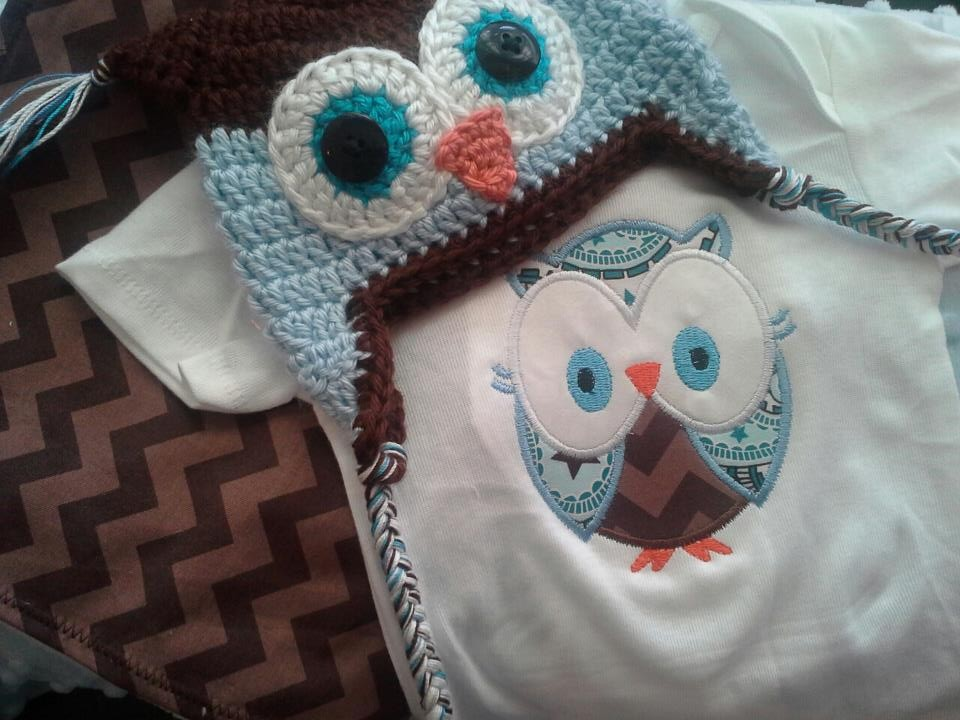 Boy Owl Baby Set-