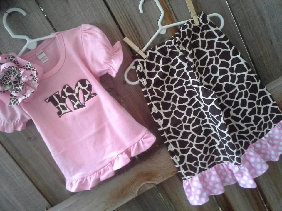 Giraffe Ruffled Pants Set-