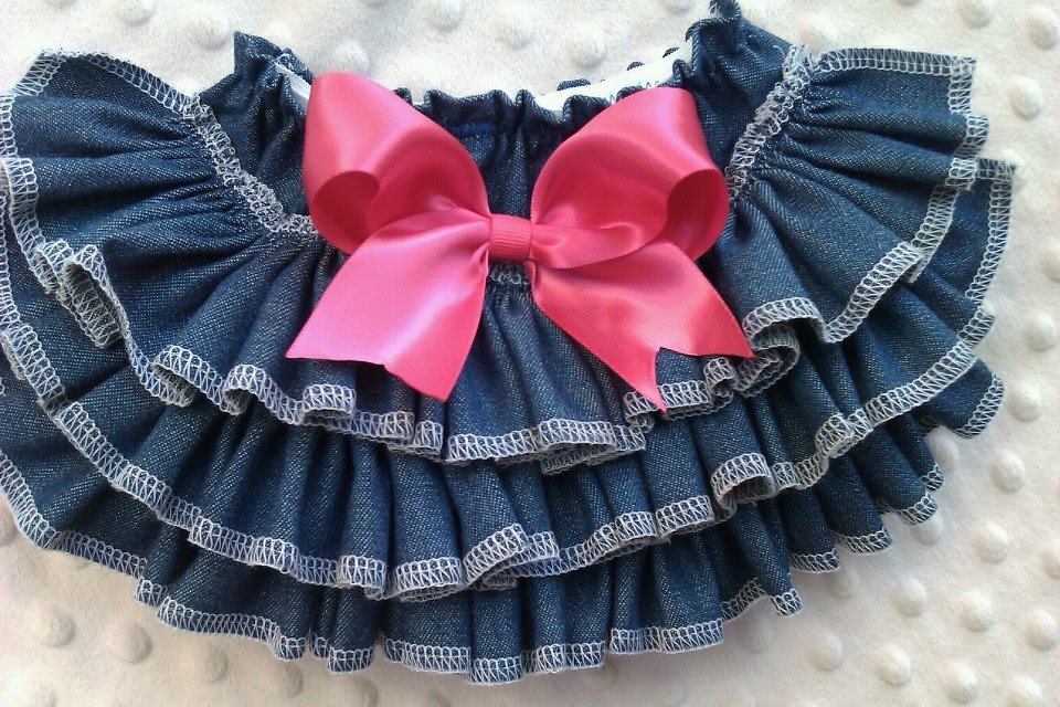 Denim Ruffled Bloomers-