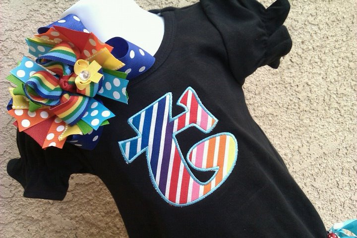 Rainbow Themed Romper-