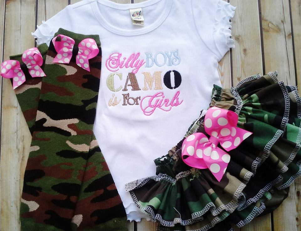 Camo is for Girls Ruffled Set-camo ruffled bloomers