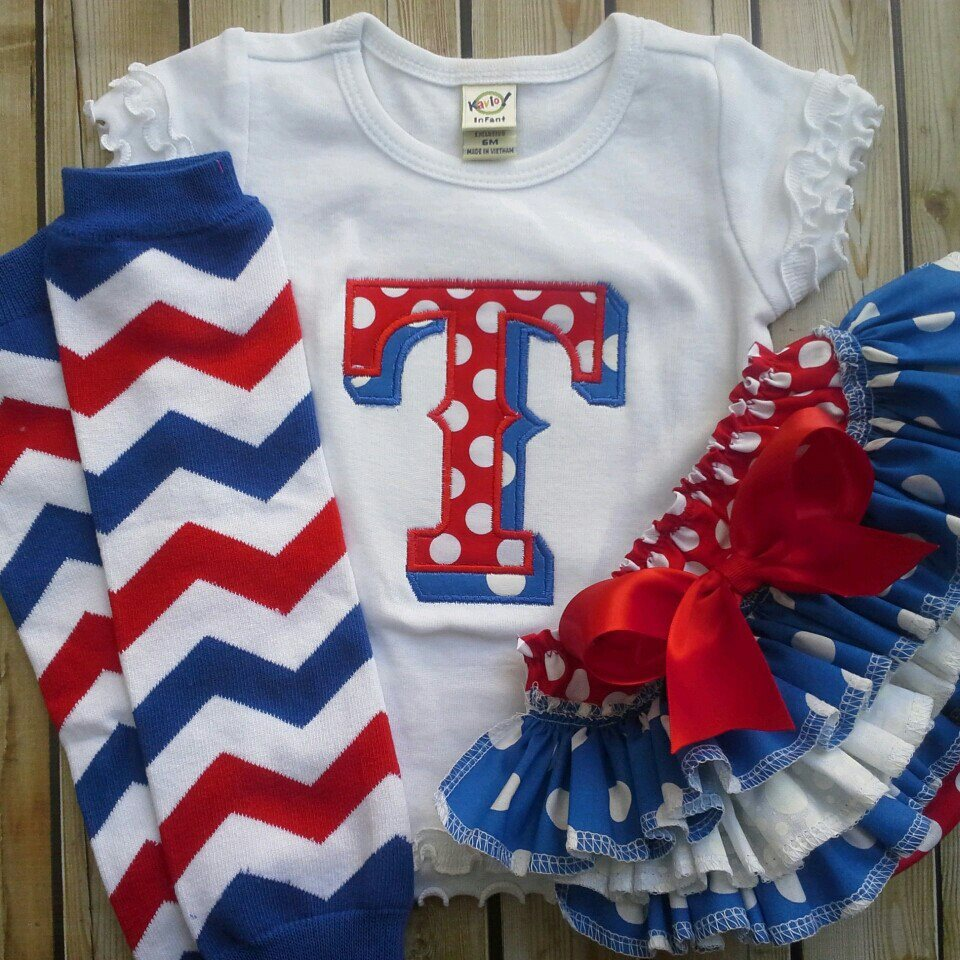 Rangers Themed Ruffled Bloomers Set-