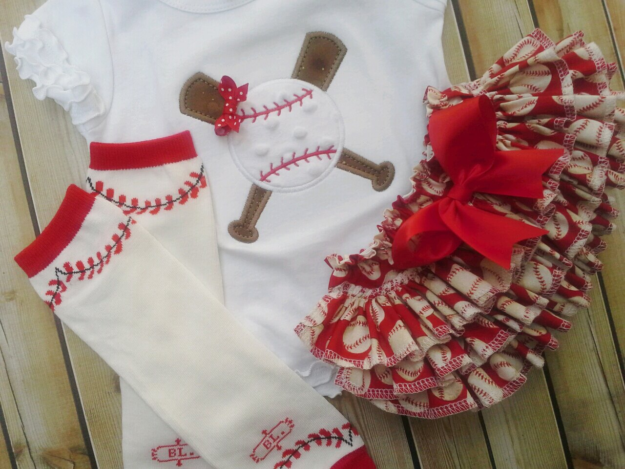 Baseball Ruffled Set-Baseball