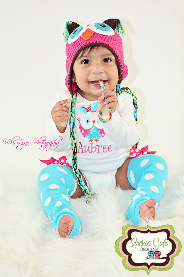 Hot Pink and Teal Owl Set-