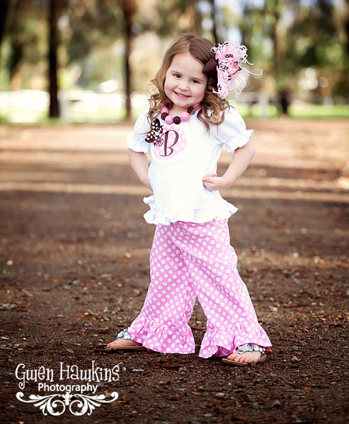 Pink Ruffled Pants Set-