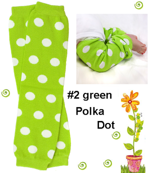 Lime Bow Legwarmers-