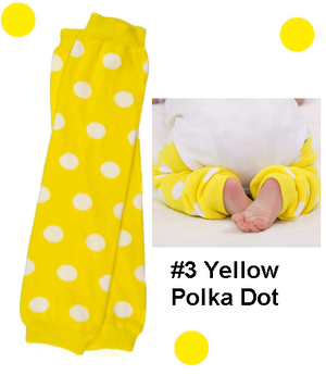 Yellow Bow Legwarmers-